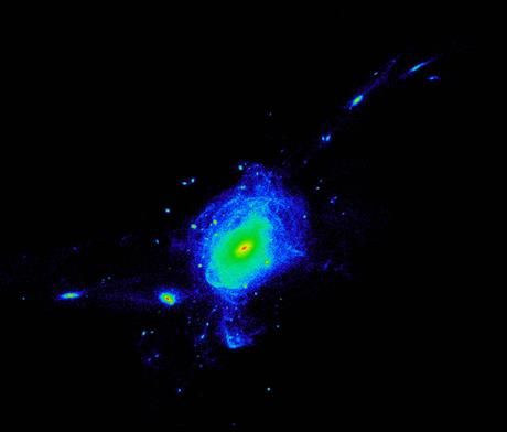 Collision de deux galaxies