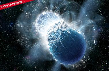 La fusion de deux étoiles à neutrons observée via ses ondes gravitationnelles et électromagnétiques