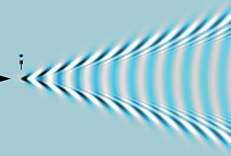 En se propageant, les fissures interfèrent avec les sons qu'elles produisent