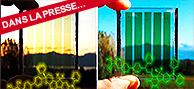 Un premier pas vers des vitres photovoltaïques intelligentes