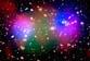 Deux amas de galaxies en collision ou la « peinture » d'une fournaise cosmique…