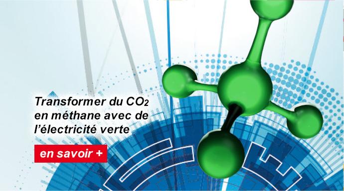 Transformer du CO2 en méthane avec de l'électricité verte