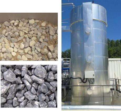 Heat storage tank and materials envisaged