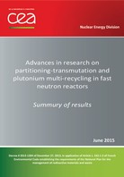 Advances in research on partitioning‐transmutation and plutonium multi‐recycling in fast neutron reactors.