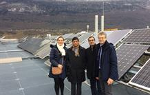 The Director General of the International Solar Alliance visits the National Solar Energy Institute (CEA/INES)
