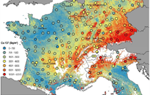 New reference map of radionuclide concentrations in soils of Western Europe